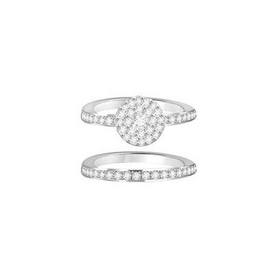 diamond ring and band