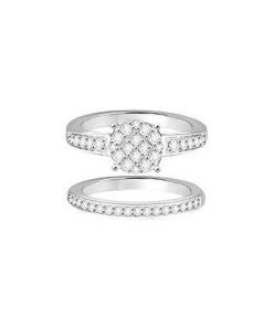 diamond ring and band