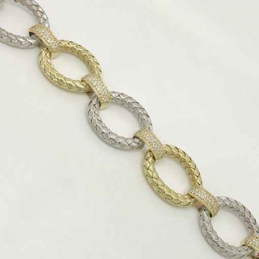 14K-2-tone-Mesh-Diamond-Bracelet