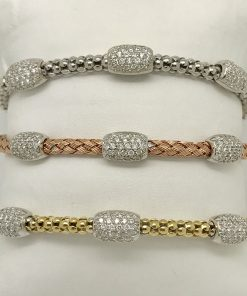 flexible bangles with diamons
