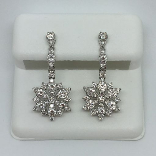 drop diamond earrings