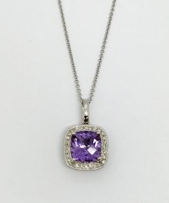 Diamond and Amethyst Pendant