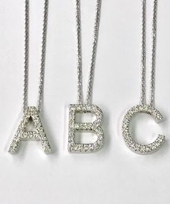 Diamond Initital Pendant