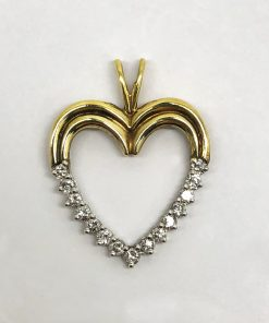 Diamond Heart 18k yellow gold