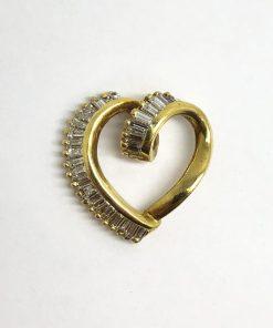 Yellow Gold Diamond Heart