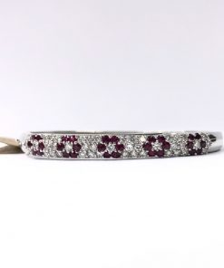 diamond & ruby bangle bracelet