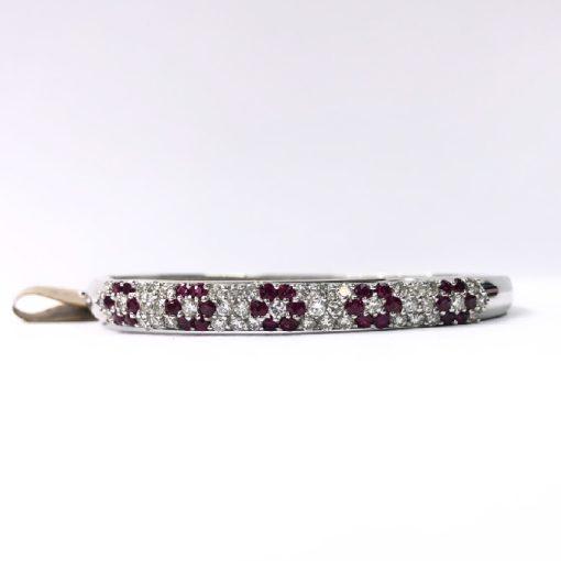 diamond & ruby bangle bracelet