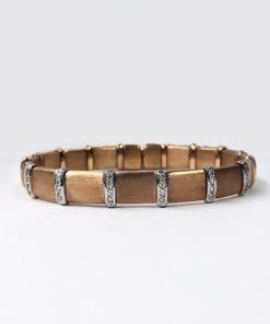 18k rose gold diamond bangle bracelet