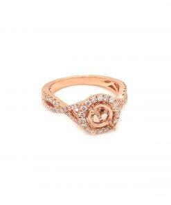 Rose Gold Diamond Engagement Mounting