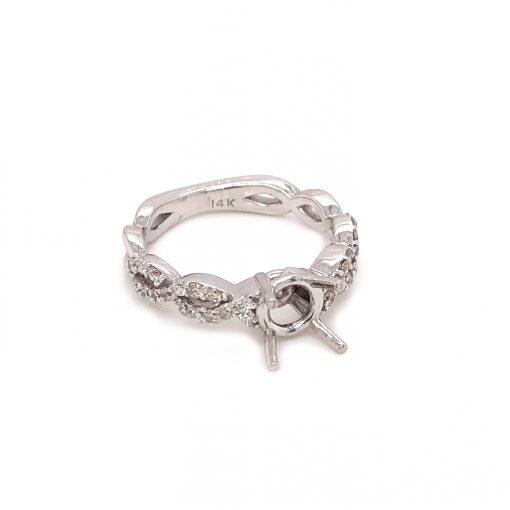 white gold engagement ring mounting