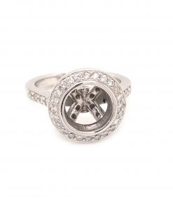 white gold diamond engagement mounting