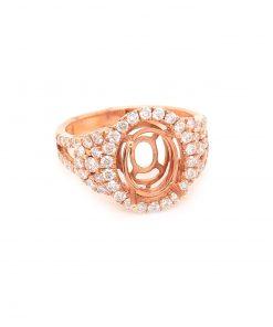 Rose Gold Engagement Mounting